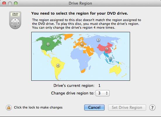 change dvd region code on mac