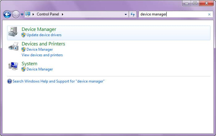 search device manager
