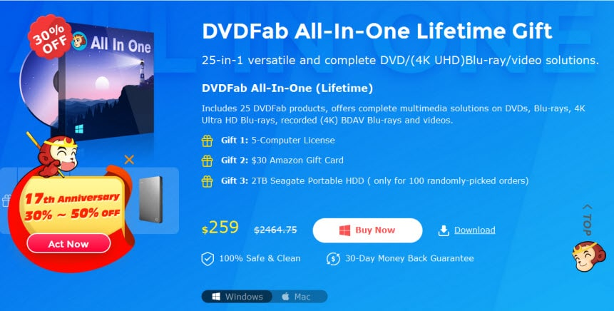 DVDFab All-in-one screen