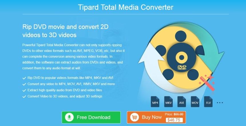 Tipard total media converter screen