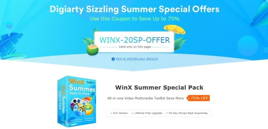 WinX Summer Special Pack screen